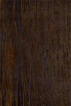 Dark brown heartwood with very close, fine almost black veins. Closely ...